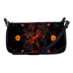 Fractal Wallpaper With Dancing Planets On Black Background Shoulder Clutch Bags by Nexatart