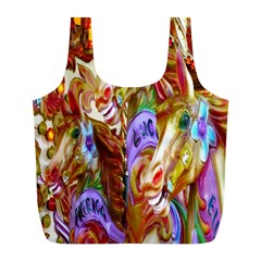 3 Carousel Ride Horses Full Print Recycle Bags (l)  by Nexatart