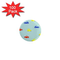 Car Yellow Blue Orange 1  Mini Magnets (100 Pack)  by Mariart