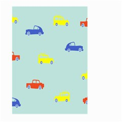 Car Yellow Blue Orange Large Garden Flag (two Sides) by Mariart