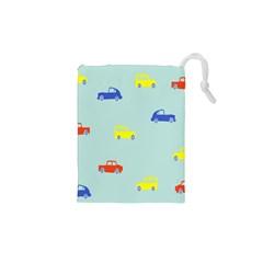 Car Yellow Blue Orange Drawstring Pouches (xs)  by Mariart
