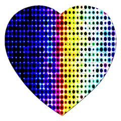 A Creative Colorful Background Jigsaw Puzzle (heart) by Nexatart