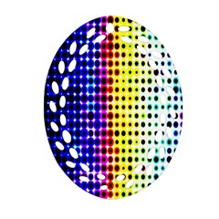 A Creative Colorful Background Oval Filigree Ornament (two Sides) by Nexatart