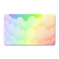 Cloud Blue Sky Rainbow Pink Yellow Green Red White Wave Magnet (rectangular) by Mariart