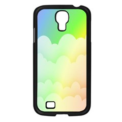 Cloud Blue Sky Rainbow Pink Yellow Green Red White Wave Samsung Galaxy S4 I9500/ I9505 Case (black) by Mariart