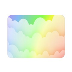 Cloud Blue Sky Rainbow Pink Yellow Green Red White Wave Double Sided Flano Blanket (mini)  by Mariart