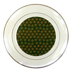 Stars Pattern Background Porcelain Plates