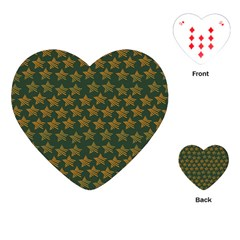 Stars Pattern Background Playing Cards (heart)  by Nexatart
