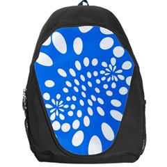 Circles Polka Dot Blue White Backpack Bag by Mariart