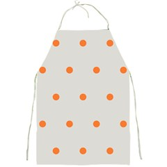 Diamond Polka Dot Grey Orange Circle Spot Full Print Aprons by Mariart