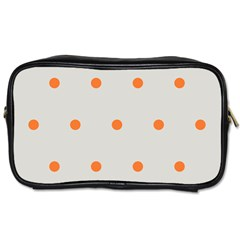 Diamond Polka Dot Grey Orange Circle Spot Toiletries Bags by Mariart