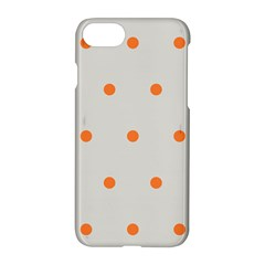Diamond Polka Dot Grey Orange Circle Spot Apple Iphone 7 Hardshell Case by Mariart