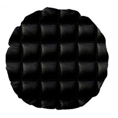 Black Cell Leather Retro Car Seat Textures Large 18  Premium Round Cushions by Nexatart