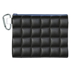 Black Cell Leather Retro Car Seat Textures Canvas Cosmetic Bag (xxl)
