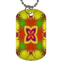 Digital Color Ornament Dog Tag (two Sides) by Nexatart
