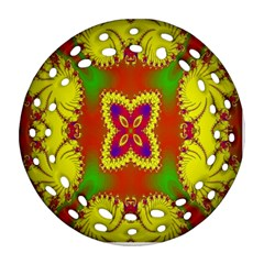 Digital Color Ornament Round Filigree Ornament (two Sides) by Nexatart