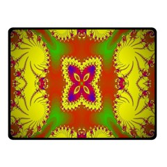 Digital Color Ornament Double Sided Fleece Blanket (Small)  by Nexatart