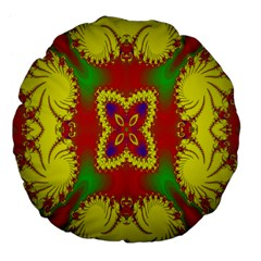 Digital Color Ornament Large 18  Premium Flano Round Cushions by Nexatart