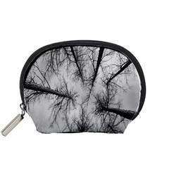 Trees Without Leaves Accessory Pouches (small)  by Nexatart