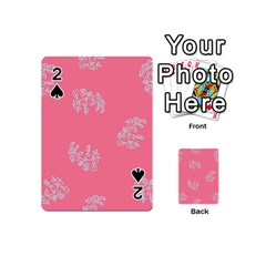 Branch Berries Seamless Red Grey Pink Playing Cards 54 (mini)  by Mariart