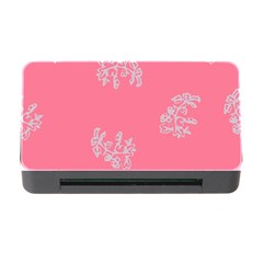 Branch Berries Seamless Red Grey Pink Memory Card Reader With Cf by Mariart