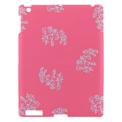 Branch Berries Seamless Red Grey Pink Apple Ipad 3/4 Hardshell Case by Mariart