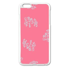 Branch Berries Seamless Red Grey Pink Apple Iphone 6 Plus/6s Plus Enamel White Case by Mariart