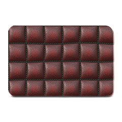 Red Cell Leather Retro Car Seat Textures Plate Mats by Nexatart