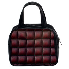 Red Cell Leather Retro Car Seat Textures Classic Handbags (2 Sides) by Nexatart