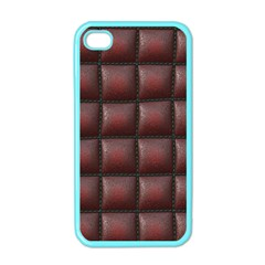 Red Cell Leather Retro Car Seat Textures Apple Iphone 4 Case (color) by Nexatart