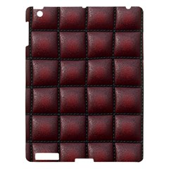 Red Cell Leather Retro Car Seat Textures Apple Ipad 3/4 Hardshell Case by Nexatart