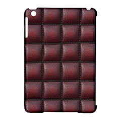 Red Cell Leather Retro Car Seat Textures Apple Ipad Mini Hardshell Case (compatible With Smart Cover) by Nexatart