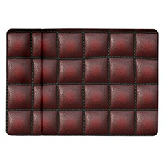 Red Cell Leather Retro Car Seat Textures Samsung Galaxy Tab 10 1  P7500 Flip Case by Nexatart