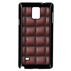 Red Cell Leather Retro Car Seat Textures Samsung Galaxy Note 4 Case (black) by Nexatart