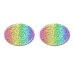 A Creative Colorful Background Cufflinks (oval) by Nexatart