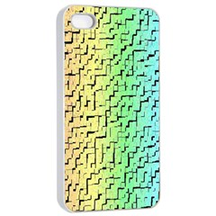 A Creative Colorful Background Apple Iphone 4/4s Seamless Case (white) by Nexatart