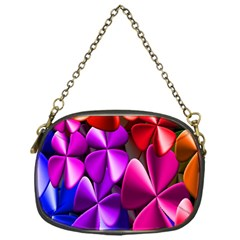 Colorful Flower Floral Rainbow Chain Purses (one Side)  by Mariart