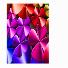 Colorful Flower Floral Rainbow Large Garden Flag (two Sides) by Mariart