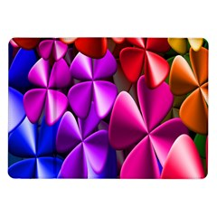 Colorful Flower Floral Rainbow Samsung Galaxy Tab 10 1  P7500 Flip Case by Mariart