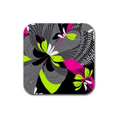 Abstract Illustration Nameless Fantasy Rubber Square Coaster (4 Pack)  by Nexatart