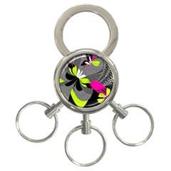Abstract Illustration Nameless Fantasy 3 Ring Key Chains by Nexatart