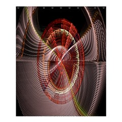 Fractal Fabric Ball Isolated On Black Background Shower Curtain 60  X 72  (medium)  by Nexatart