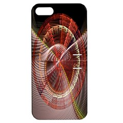 Fractal Fabric Ball Isolated On Black Background Apple Iphone 5 Hardshell Case With Stand by Nexatart