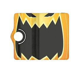 Halloween Pumpkin Orange Mask Face Sinister Eye Black Kindle Fire Hdx 8 9  Flip 360 Case by Mariart