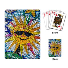 Sun From Mosaic Background Playing Card by Nexatart