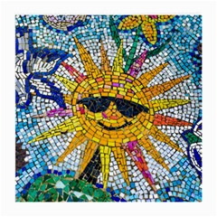 Sun From Mosaic Background Medium Glasses Cloth (2 Side) by Nexatart