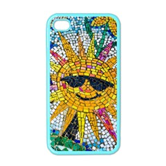 Sun From Mosaic Background Apple Iphone 4 Case (color) by Nexatart
