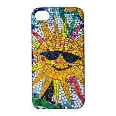 Sun From Mosaic Background Apple Iphone 4/4s Hardshell Case With Stand by Nexatart