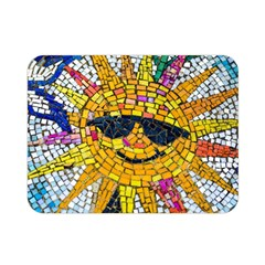 Sun From Mosaic Background Double Sided Flano Blanket (mini)  by Nexatart