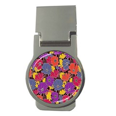 Colorful Floral Pattern Background Money Clips (round)  by Nexatart